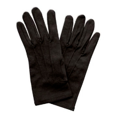 Men's Black Tuxedo Nylon Stretchable gloves Parade Magic Band Guard Uniform Tux