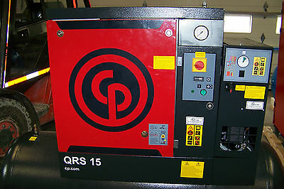Chicago Pneumatic QRS 15HPD NEW  Rotary Screw Compressor With air dryer