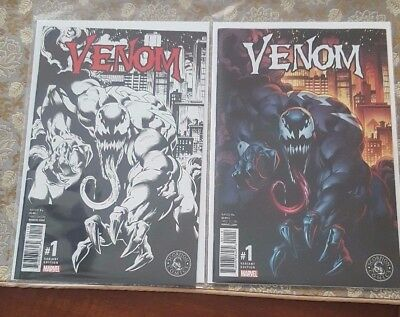 Lot of 2 Venom #1 NM Variant Color And Black & White Marvel