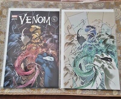 Lot of 2 Venom #6 Color & Negative Mark Bagley NM (Marvel) Print run 3000/1000