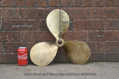 Boat propeller 17 x 15 RH boat prop brass bronze right handed FREE POSTAGE