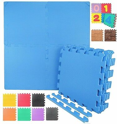 12 Styles EVA Foam Floor Mat Interlocking Exercise Gym Puzzle Tiles with Borders