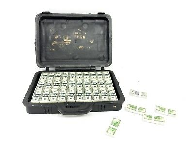 """FIG-BC: 1/12 scale Toy Briefcase with US Money Cash Bills for 6"""" action figures"""