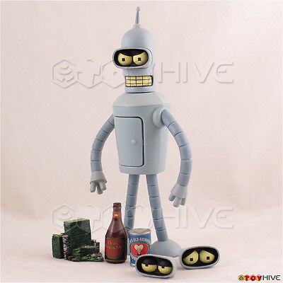 Futurama Bender Toynami Action Figure loose figure with pictured acccessories