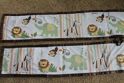 Breathable Mesh Crib Bumper Liner Jungle Zoo Safari Animals BreathableBaby