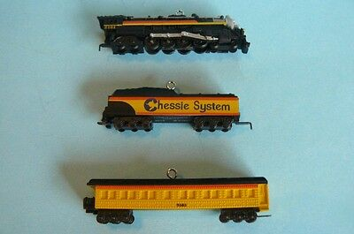 "2012 Hallmark ""LIONEL CHESSIE STEAM SPECIAL"" 3 piece Miniature"