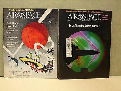 Vintage lot of 2 Air & Space magazine. 1990 & 1991(A)
