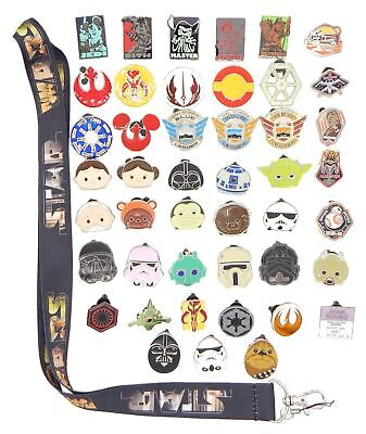 Star Wars Themed Lanyard Starter Set with 5 Disney Park Trading Pins ~ NEW