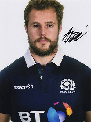 Allan Dell, Edinburgh & Scotland rugby union, signed 8x6 inch photo. COA.