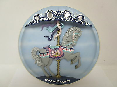 Vintage Classic Cool Rhodes Studios  Musical Carousel Horse Collectable Plate