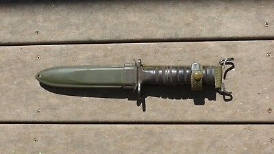 WWII US M4 Bayonet Utica M1 Carbine Fighting Knife USMC USA in USM8A1