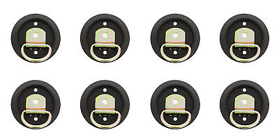 ABN Tie down D-Ring Mounting Rings 1200 lbs with Flush Mount 8-Pack