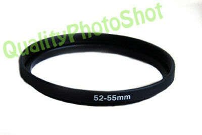 Step-up adapter ring 52-55 52mm-55mm Anodized Black , in USA