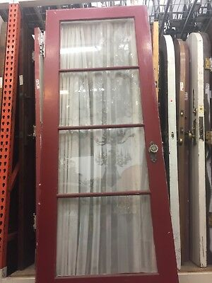 "Old Single French Door 4 Glass Light Interior Door 30""x 79-3/4"""