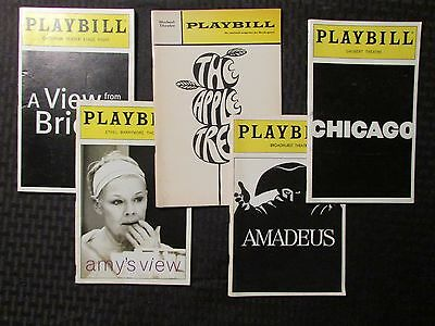 PLAYBILL Magazine LOT of 5 Chicago / Amadeus / Apple Tree / Amy's View