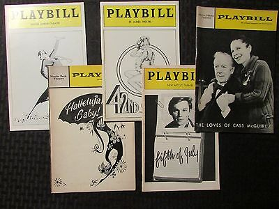 PLAYBILL Magazine LOT of 5 Cass McGuire / Fifth of July / 42nd Street /