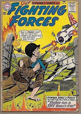 Our Fighting Forces #74~Gunner Sarge Pooch~Three on a TNT Bull's-Eye~Joe Kubert