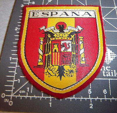Espana, Spain coat of arms, woven style Patch, great collectible
