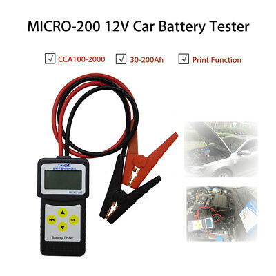 Automotive MICRO-200 Car 12V Vehicle Battery Analyzer Testers 7-30VDC Portable