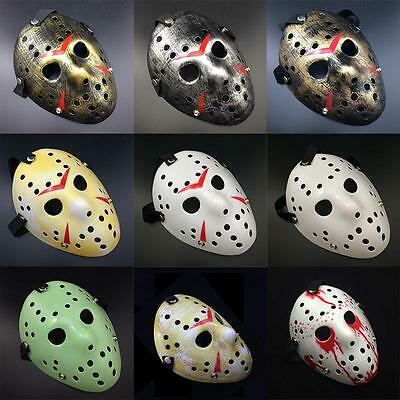 Halloween Jason Voorhees Mask Friday The 13th Horror Movie Hockey Costume jzus