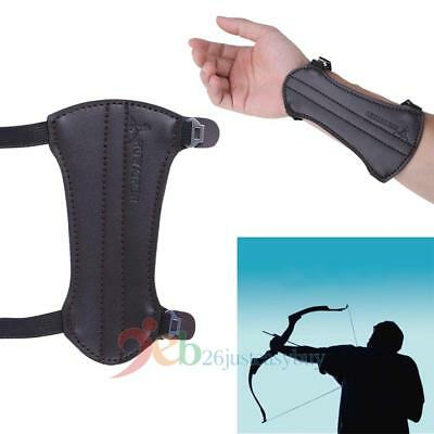Arm Forearm Guard Cow Leather 2 Strap Archery Shooting Barcer Protector Armlet