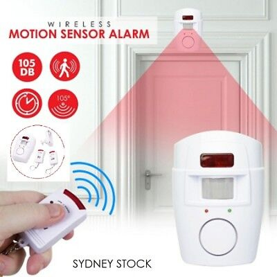 Remote Control Wireless Infrared Motion Sensor Alarm Security Home Office System