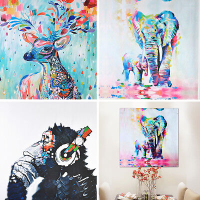 50x50cm Abstract Wall Decor Modern Hand-painted Art Oil Painting Elephant Canvas