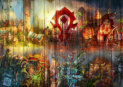World Of Warcraft Wow Horde Poster Print Picture A4 A3 260Gsm High Quality