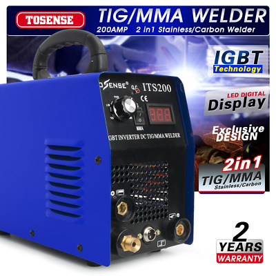 TIG/MMA Welder 2in1 Stainless/Carbon Steel welding machine &accessories 110/220V