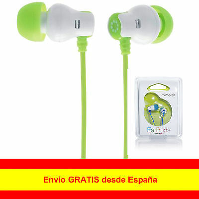 Original Auriculares Cascos Memorex EarBuds In-Ear PARA SAMSUNG IPHONE MP3 3,5mm
