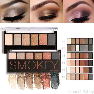 6 Colors Eyeshadow Palette glamorosa Smokey tierra Eye Shadow Makeup Kit CH7F