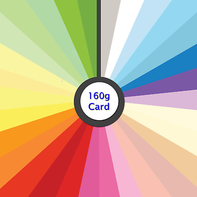 Mixed Colour Card, 160gsm A4 Assorted Coloured 40 Sheet Back to School Pk