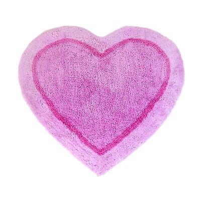 Heart Shaped Pink Non-Slip Fluffy Heart Shaped Rug Mat Carpet 60Cm X 65Cm