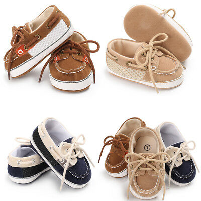 Baby Boy First Walker Stitching Straps Soft Bottom Non-slip Casual Canvas Shoes