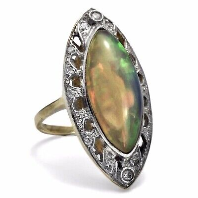 Jugendstil Antiker Diamant Opal Ring Um 1900