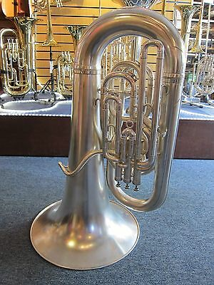 Besson Imperial EEb Tuba - Satin Silver Plate (used instrument, 1979)
