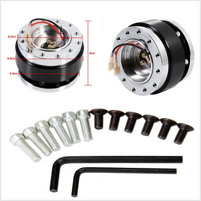 Car Steering Wheel Ball Quick Release Hub Adapter Snap Off Kit Universal Black