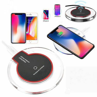 Qi Wireless Fast Charger Charging Mat Pad Dock Cable For iPhone X 8 Plus Samsung