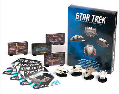 Star Trek Shuttle Set 2 - 4 Stück- Metall Modell Star Trek Eaglemoss neu ovp eng