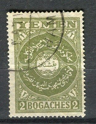 YEMEN;  1930 early issue fine used 2b. value