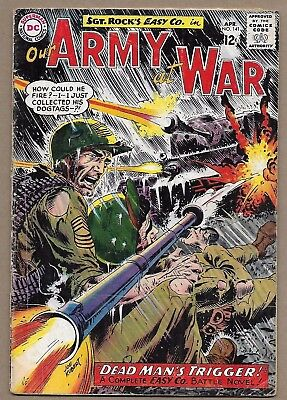 Our Army at War #141~Sgt Rock Easy Company~Dead Man's Trigger~Joe Kubert c/a~DC