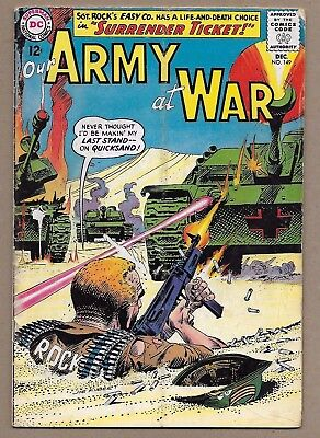 Our Army at War #149~Sgt Rock Easy Company~Surrender Ticket~Joe Kubert c/a~DC