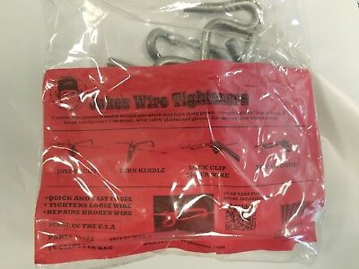 """Jakes Wire Tighteners Bag of 15 Heavy  5/16"""" Clips  Fix Fence FAST Made in USA"""