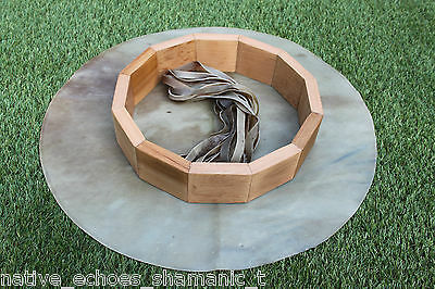"12"" Red Stag Rawhide Drum & Beater Kit. Birth/Make your Own Shamanic Drum Kit."