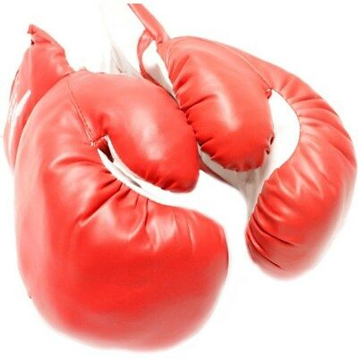20 OZ BOXING PRACTICE TRAINING GLOVES RED Sparring Faux Leather Extra Large XL