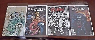 Lot of 4 VENOM #1 & #6 NM Variant BW Only 1500 Made Colors 3000 Negative 1000