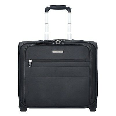 Nowi 2-Rollen Business Trolley Handgepäck 42 cm Laptopfach (schwarz)