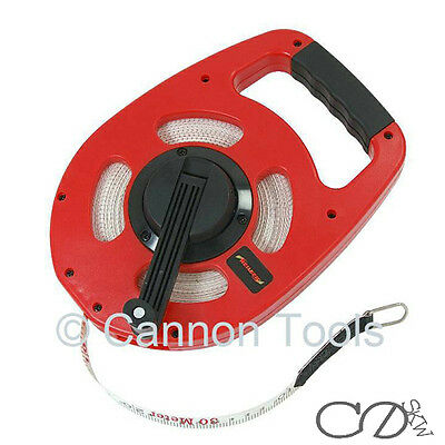 30M 100FT Tape Measure Surveyors Long Easy Wind Measuring Meter