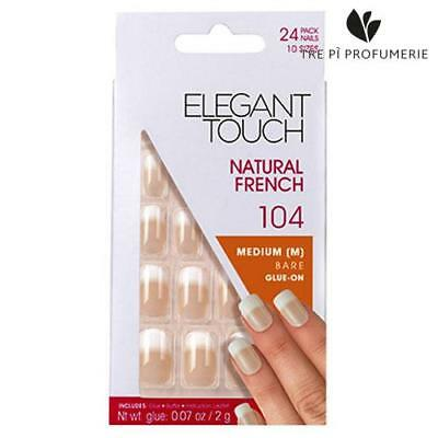 Elegant Touch Natural French Medium Bare Glue On 104