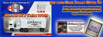 1930s BEKINS MOVING COMPANY MACK CJ SEMI-TRACTOR/TRAILER AHL/Hartoy Sn3/1:64 MIB